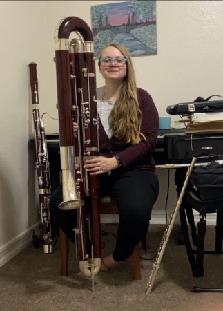 A typical practice session in my music room!