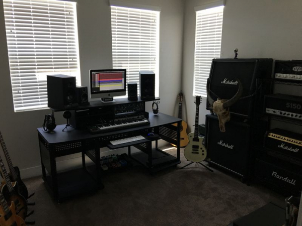 The studio and lesson space