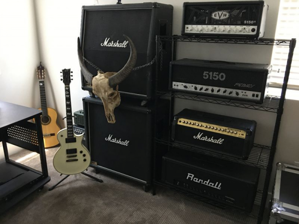 Some of the amps and equipment
