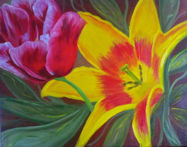 Flower Beauty...learn to paint flowers that brighten any room!