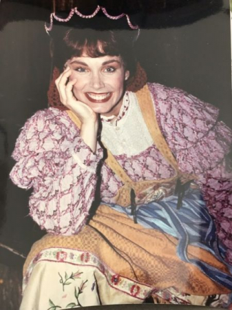 Getting ready for opening number  as the Baker's Wife in Into The Woods. Original Company. 