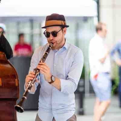 Playing some traditional New Orleans jazz at the W hotel with my band Herbsaint