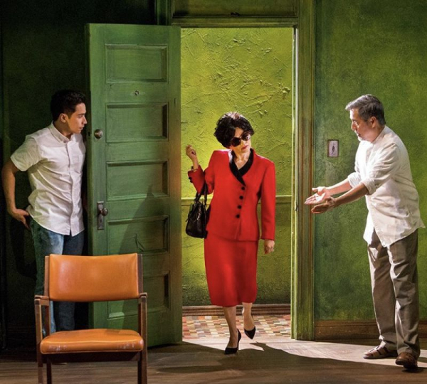 Francisca Munoz (center) in the lead role; Mrs Delgado, in the Off-Broadway musical Felix Starro.  photo by: Richard Termine