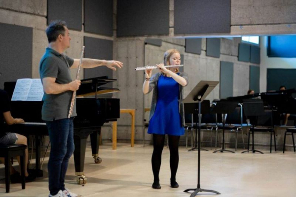 Performing for Emmanuel Pahud (Photo by Tyler Mcatee)