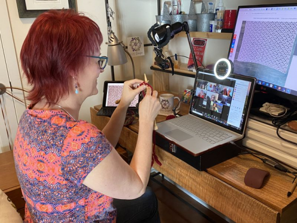It's easy to learn how to knit or crochet online, since I have a two-camera setup and you can see my hands close-up!