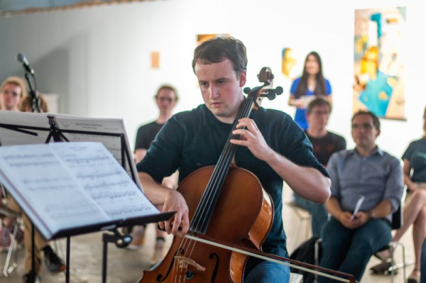 """Ryan Ash @ Charlotte New Music Festival performing my piece """"heX"""" for Solo Cello"""