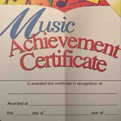 """Students will always receive their """"Music Awards"""" for participation after Quarterly Zoom Recitals!"""