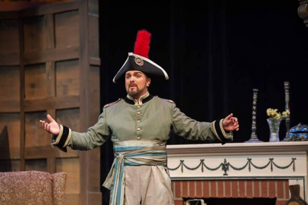 Singing as Don Ramiro in Rossini's La cenerentola (Cinderella) in Columbus, Ohio