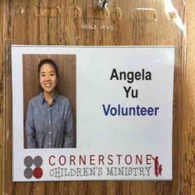 Volunteer Sunday school teacher in Cornerstone Church
