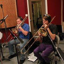 A jazz recording session I played in. I've also played trombone since the 8th grade.
