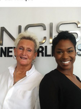 Darvinique and Graduated Student as guests on the set of NCIS New Orleans