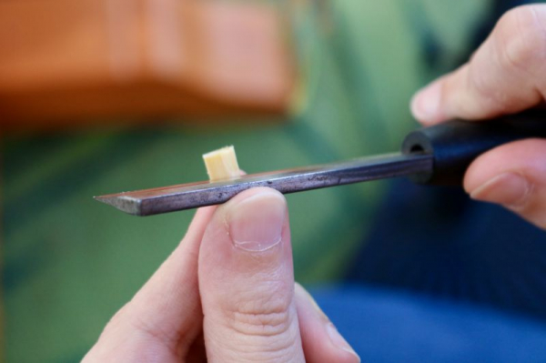 Students can start learning how to make reeds after they've been playing a year.
