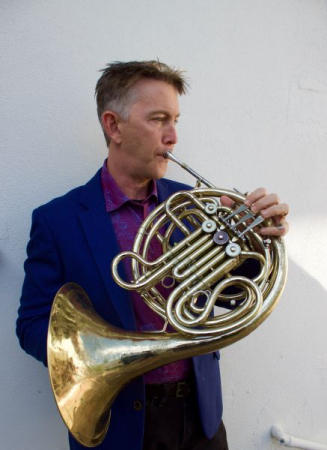 Jeff playing his French Horn