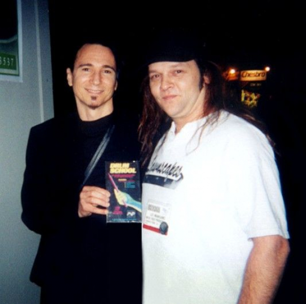 NAMM after my clinic with DDrum company & MVP met Terry Bozzio and he endorsed my 1st self produced DRUM SCHOOL  video