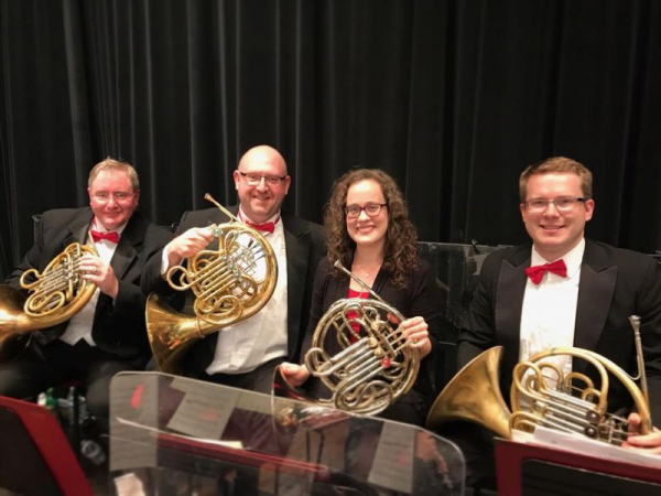 Performing 2nd horn with the Ohio Valley Symphony Orchestra