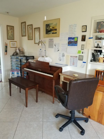 Another view of my Music Studio...I LOVE my piano!!