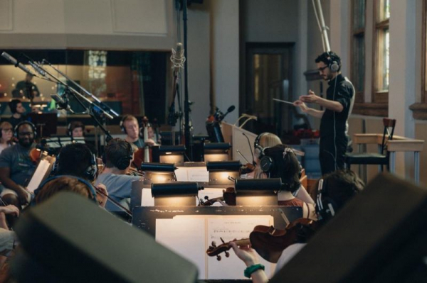 Recording session for an independent film in Nashville, TN.