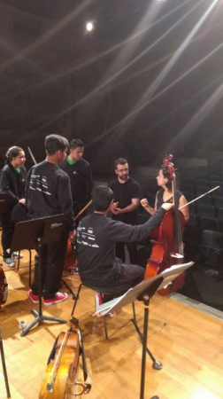 Teaching young cellists during a residency in Sao Paolo, Brazil