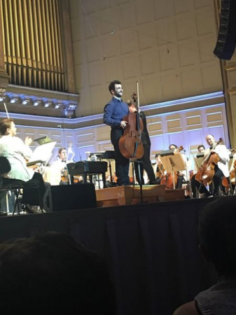 After soloing with the Boston Pops in Symphony Hall to 2,500 people