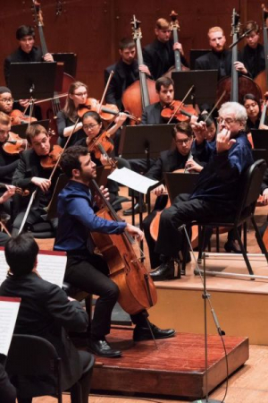 Soloing with Juilliard Orchestra under the direction of itzhak Perlman