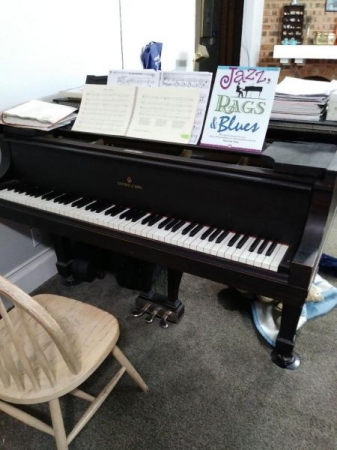 Our busy Steinway grand!