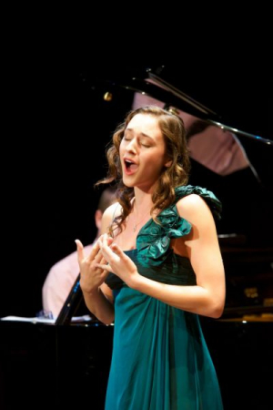 Photography by Dr. Robert Breault with Jessica in concert at the Voci nel Montefeltro Festival