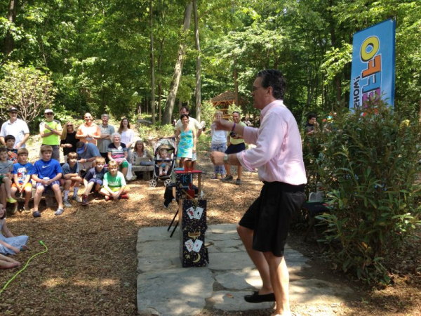 Performing at the Southport Park Grand Opening, Summer 2013. A big outdoor show for about 200 kids and their families. FUN!