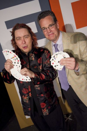 Following a corporate stage show with my magic mentor Jeff McBride, Las Vegas, 2011.