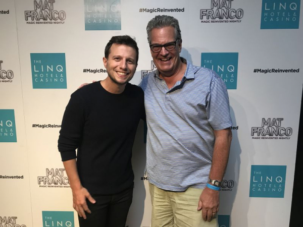 With another past Jeff McBride student, AGT Season 9 winner and star of his own full evening show on the Vegas strip, Mat Franco.