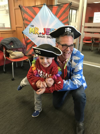 """With Make-A-Wish kid Colton after a full """"Mr. Jeffo Magic Show"""" 2020. Last live show before COVID-19 hit and we produced 12 weekly videos."""