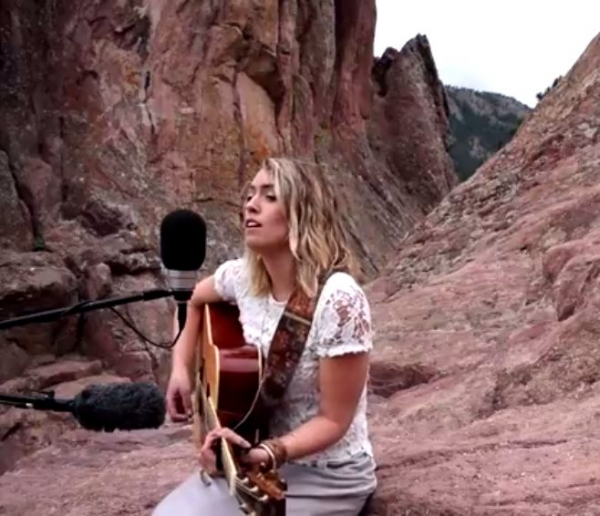 """The Overlook Sessions"" in Boulder, CO in August 2017 - so fun to record a few acoustic songs from my Visual EP in nature!!"