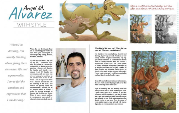 2 page spread in Illustrators Monthly April 2020