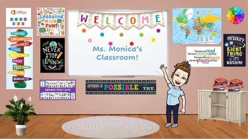 Bitmoji Virtual Classroom Welcome Slide