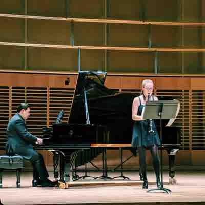 Performing in an undergraduate honors recital