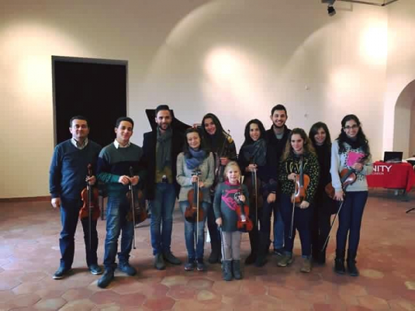 With my students in Italy