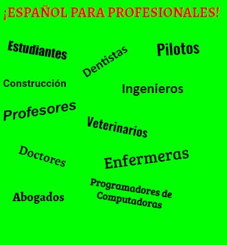 Spanish for All Professions!