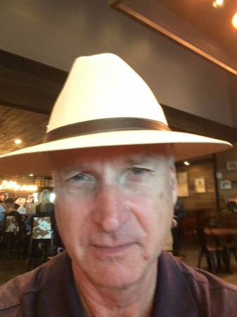 Me with my new beach hat, which I lost almost immediately.
