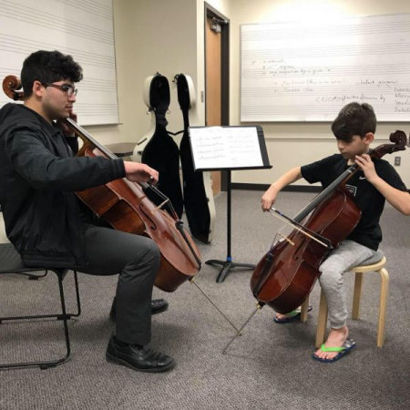 Private lesson with on of my former students.