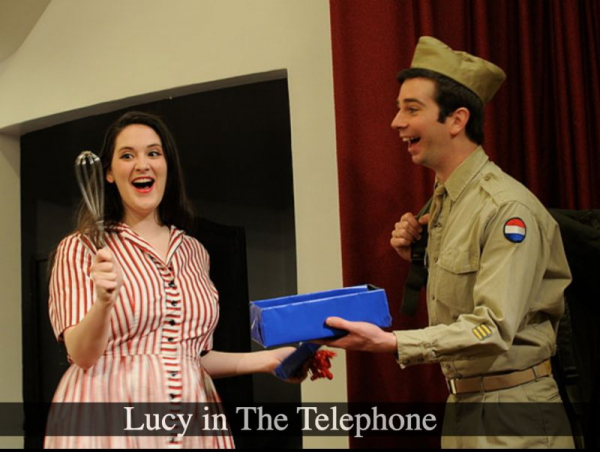 As Lucy in The Telephone
