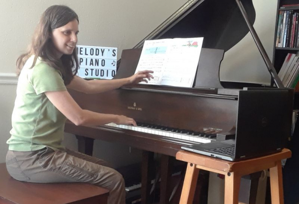 teaching piano lessons online, 2020