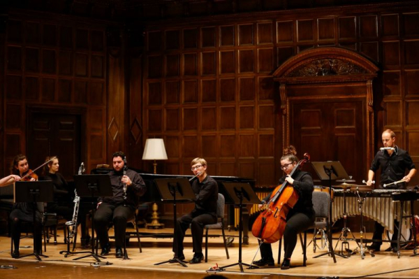 Performing at the Eastman School of Music