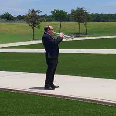 I am honored to play Taps for our fallen soldiers.