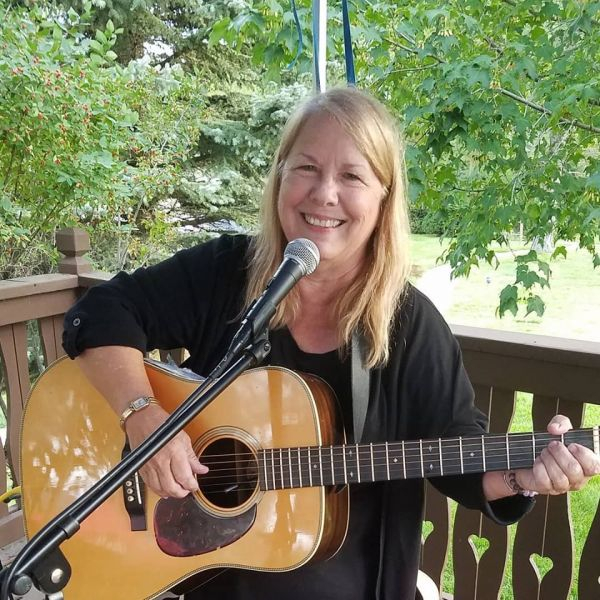 Dee is an accomplished singer/songwriter who has produced 6 albums of original music, picture taken August 2019.