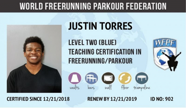 My Parkour and Freerunning Instructor Certification from the World Freerunning Parkour Federation