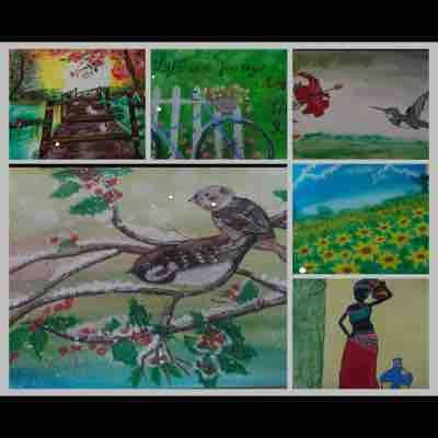 Some of my hand paintings using acrylic colors....paintings made my me from scratch without any tracings