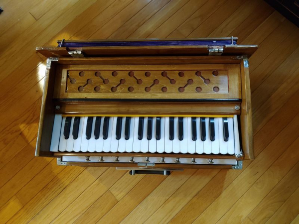 My Harmonium, to accompany some of our songs!