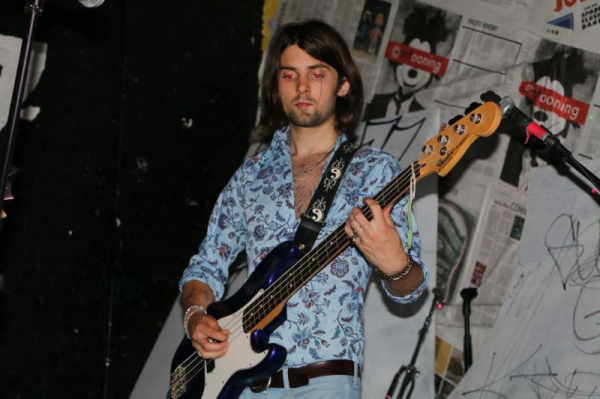 Playing Bass at Coco 66 in Greenpoint.
