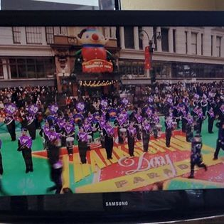 Performing at the Macy's Thanksgiving Day Parade 2015.