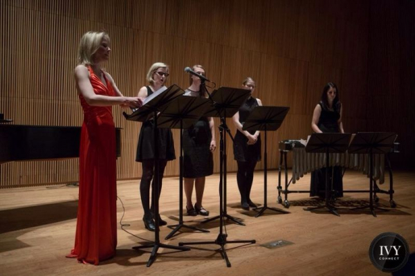 Premiering my own composition, Bound, at The DiMenna Center in NYC.