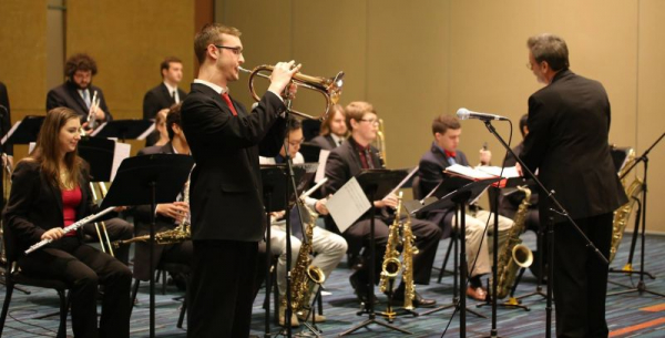 Playing as the soloist with my university big band - the Left Bank Big Band